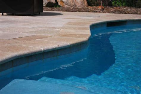 Low Cost Cabin Plans by Travertine Pool Deck Qualities Making Great Pool Decks