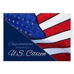 congratulations us citizenship us flag card zazzle