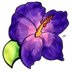 purple flower drawing clipart best