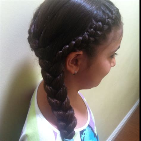 running styles short hair two french braids meeting on the side hair pinterest