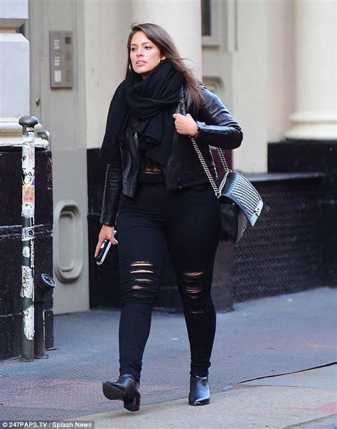 ashley graham   casual  coordinated  black
