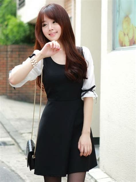 Dress Korea korean fashion bowknot cuff half sleeve mini dress