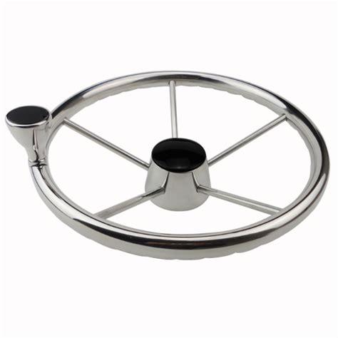 Steering Wheel Knob Marine by 13 1 2 Boat Marine Steering Wheel S S Mirror 5