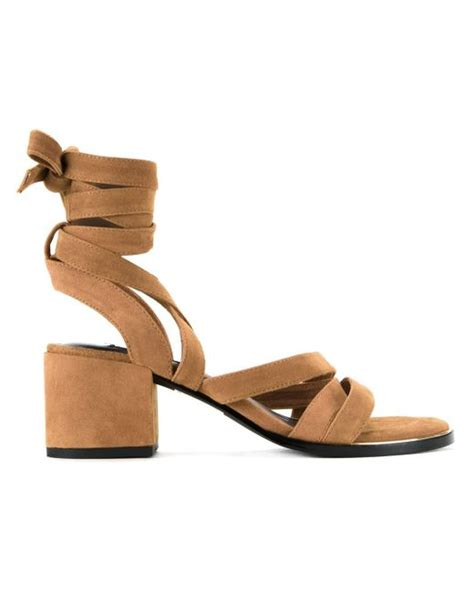 senso sandals senso may mid heel sandals in brown lyst