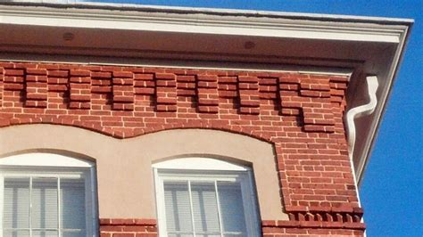 Cornice Brick Aiken Library Brick Cornice Masonry