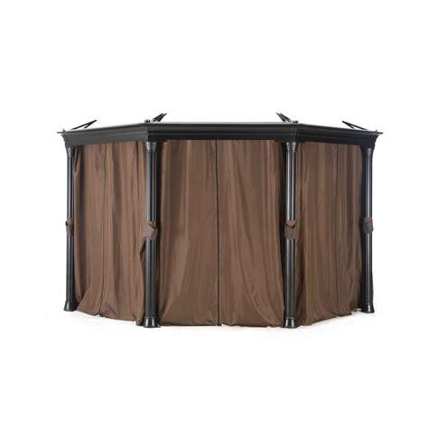 gazebo curtains sunjoy universal curtain for gazebos 110109008 the