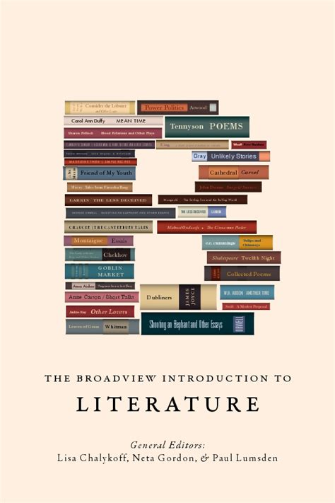 introduction to literature the broadview introduction to literature broadview press