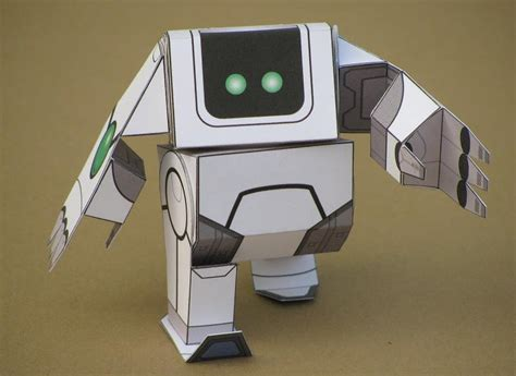 How To Make A Simple Robot With Paper - paper poseables sweet robo