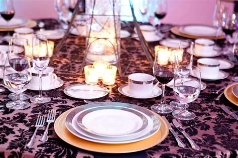 elegant table settings elegant table setting melange catering demers banquet hall