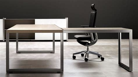 a leg l modern oikos l shaped desk with metal leg maple