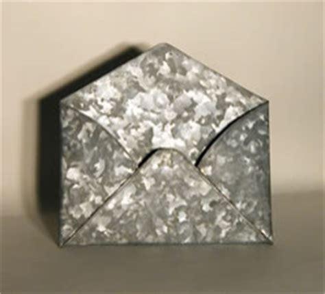 galvanized home decor galvanized tin envelope contemporary home decor