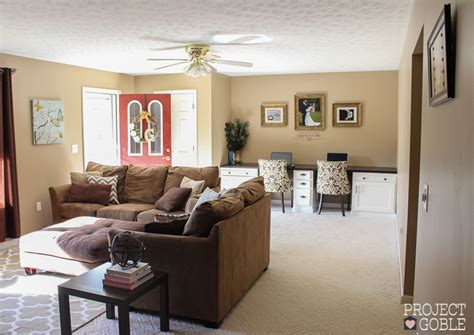 Beige Living Room Accent Wall Our House Project Goble