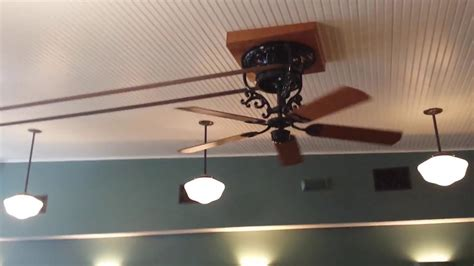 belt driven ceiling fan fanimation bourbon street belt drive ceiling fan