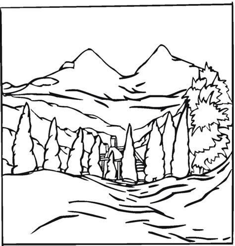 landscape coloring pages free landscape coloring pages