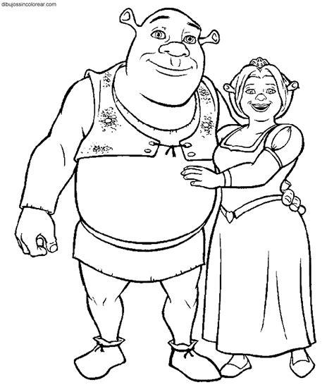 imagenes para colorear y puntear dibujos de personajes de shrek para colorear