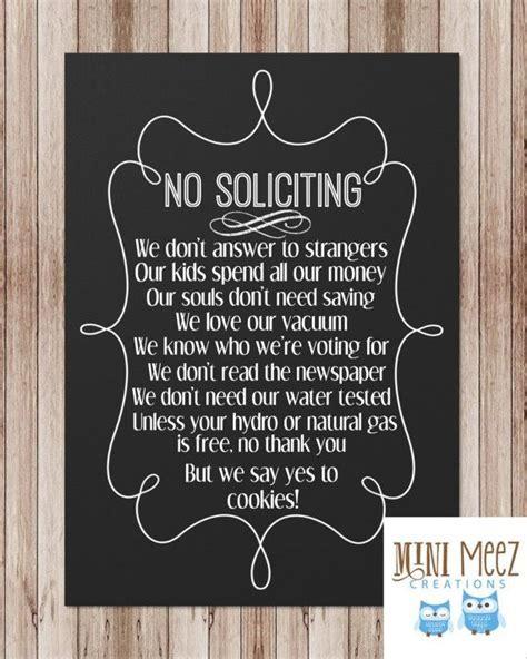 No Soliciting Sign to avoid pesky door to door sales