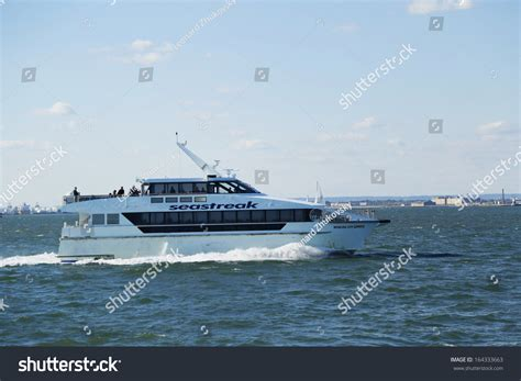 boat ride from new york to england new york october 20 seastreak ferry stock photo 164333663