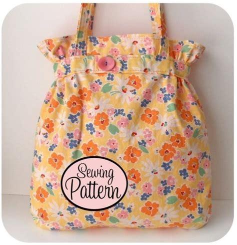 tote bag pattern pdf belted tote bag pdf sewing pattern