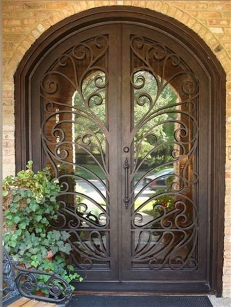 Iron Gate Front Door 1000 Images About Gorgeous Wrought Iron Doors On Gardens Beautiful And Design