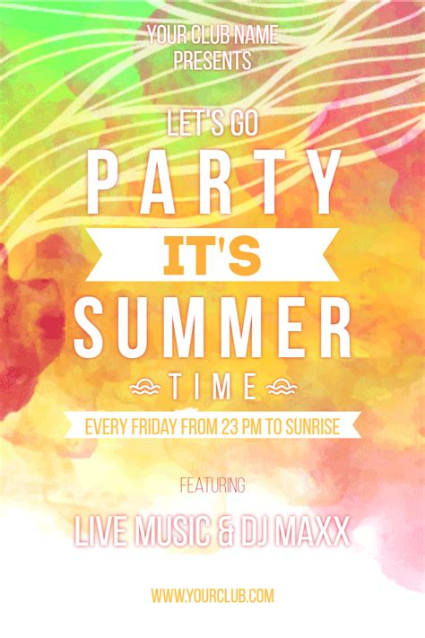 summer parties invitation summer party chatterzoom