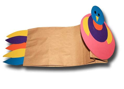 How To Make A Paper Bag Hat - paper crafts for children 187 paper bag turkey thanksgiving hat