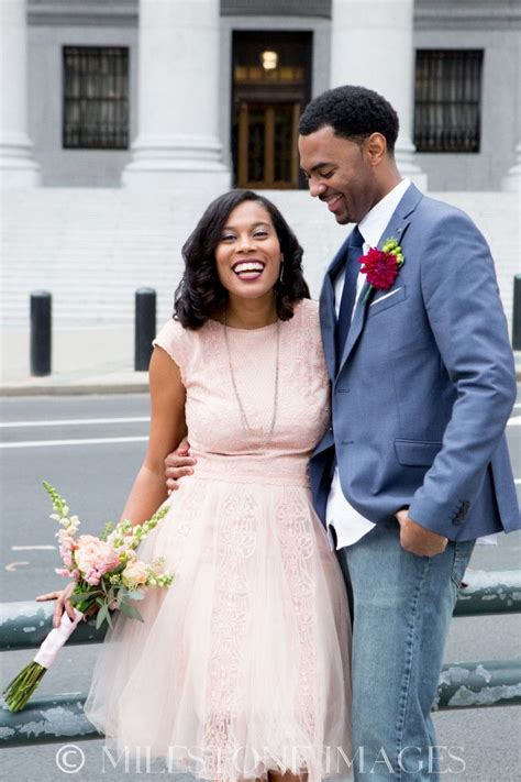 ny courthouse wedding african american natural hair