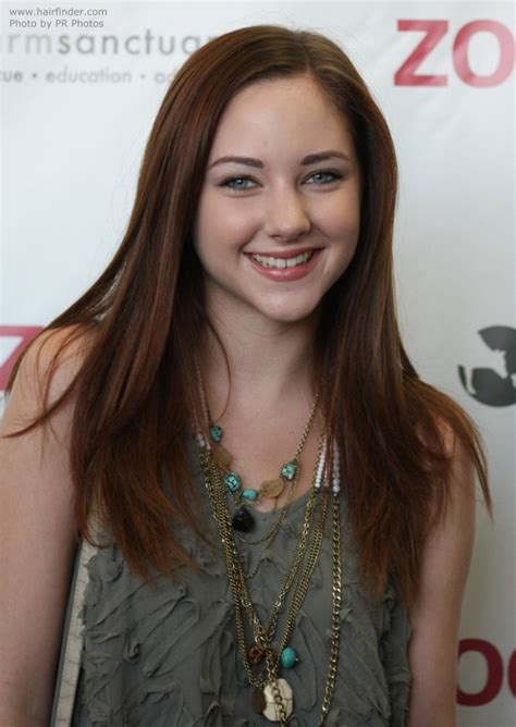 hairstyles for heart shape face and gray hair over 60 haley ramm straight long hairstyle for a heart shaped face