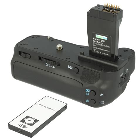 Kamera Canon T6s batteriegriff f 252 r canon eos 750d 760d ix8 t6s t6i ersetzt bg e18 inkl ir fernbedienung