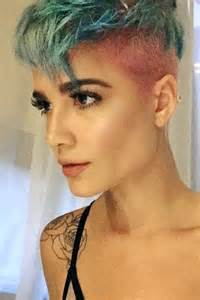 Cut two tone undercut uneven color hairstyle steal her style