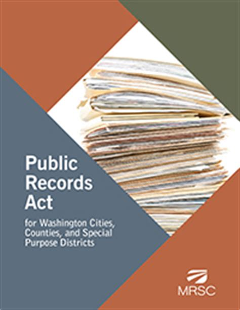 Washington Records Act Mrsc Publications