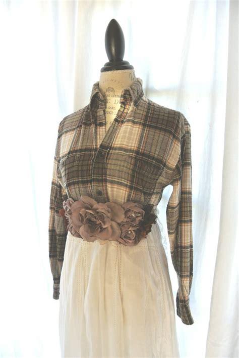 autumn plaid dress country chic clothing farm fall