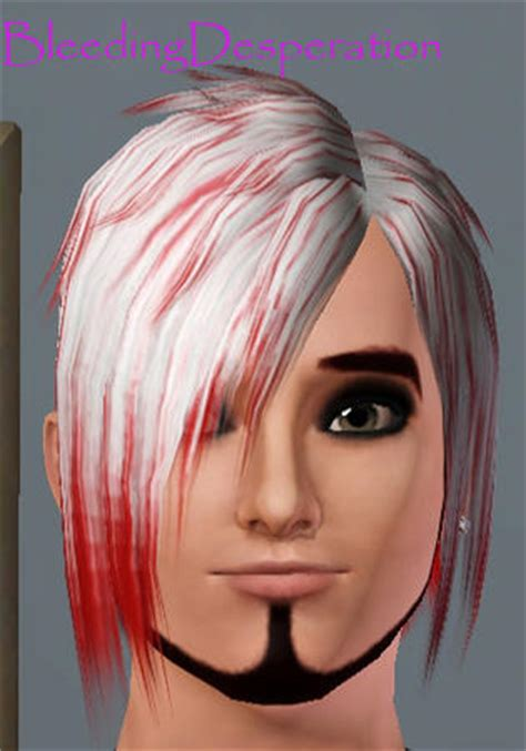 emo hairstyles with red highlights bleedingdesperation s emo hair white with red highlights