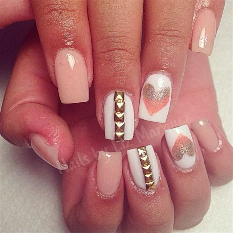 colored acrylic nails cute pink fmag com