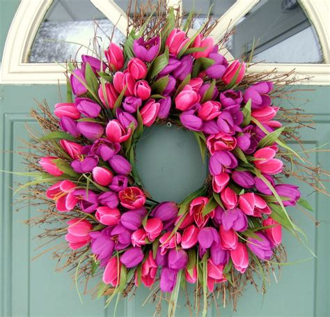 Springtime Wreaths | copy cat looks diy spring wreath