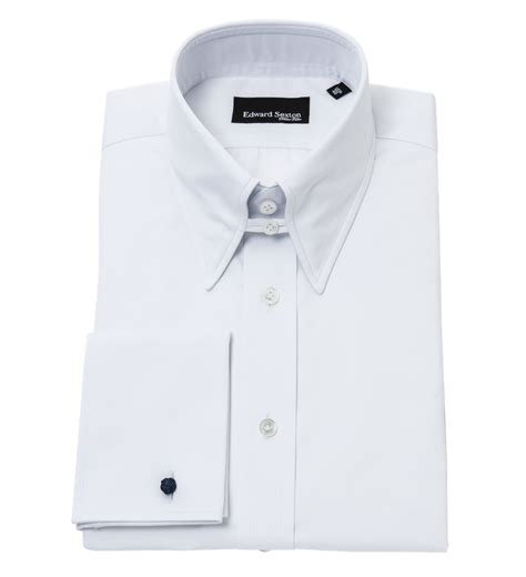 Collar Shirt white slim fit tab collar shirt from edward sexton