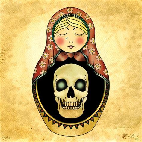skull matryoshka russian doll design and inspiration