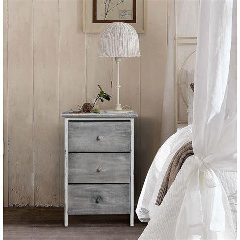 nachttisch grau schlafzimmer mobili 174 kommode nachttisch 3 schubladen holz grau