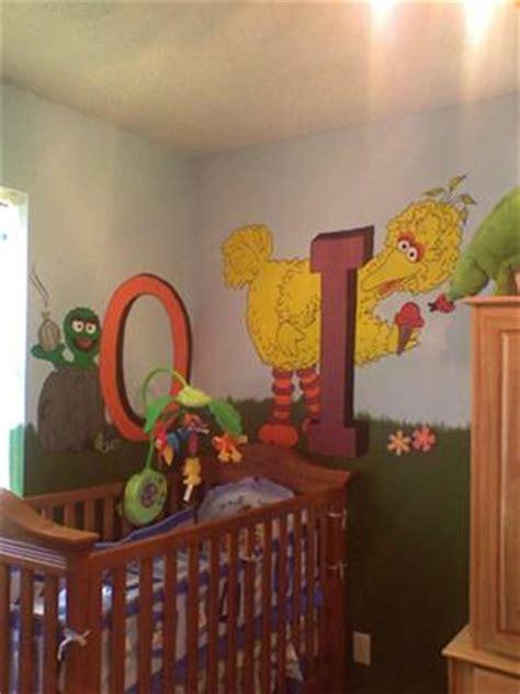 Oscar And Big Bird Mural Sesame Street Nursery Theme Sesame Nursery Decor
