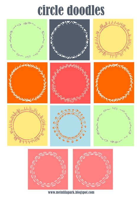 printable circle tags free digital and printable circle doodle tags and digi