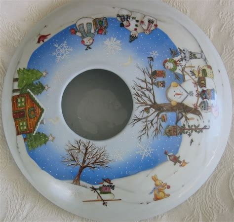 Vase De Noel by Vase Paysage De No 235 L Porcelain Navidad