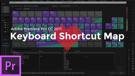 adobe premiere pro hotkeys keyboard shortcut map adobe premiere pro cc 2017 youtube
