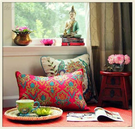 Buddha Room Decor Paint Patter Inspired By Indian Design