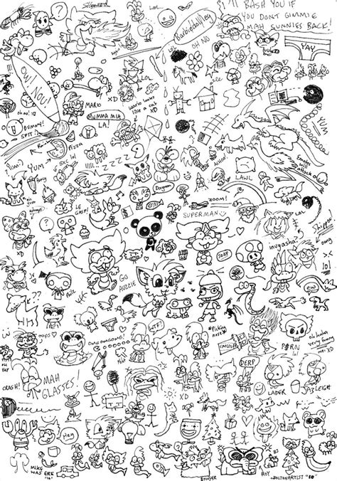 how to draw a random doodle random doodle page by boltonartist on deviantart