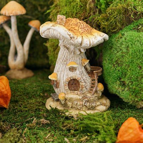 mushroom fairy house fairy garden miniature white mushroom fairy house my fairy gardens