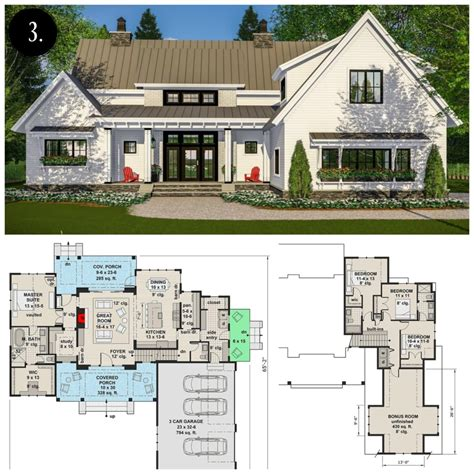 farmhouse floor plans with pictures 12 modern farmhouse floor plans rooms for rent