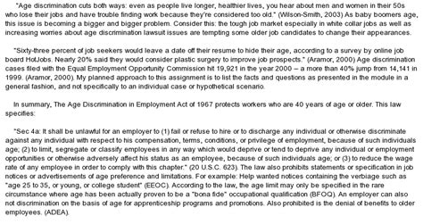 Age Discrimination Essay by Age Discrimination At Essaypedia