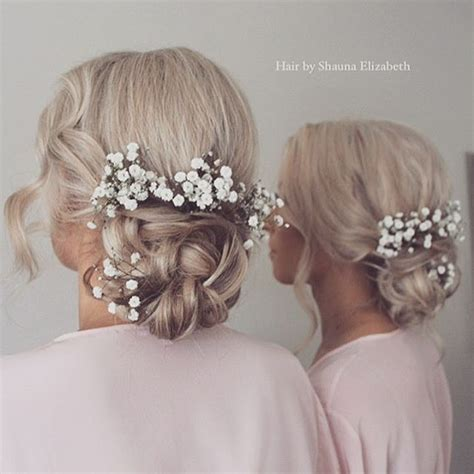 Wedding Hairstyles With Gypsophila by Soft Hair Ups Hair