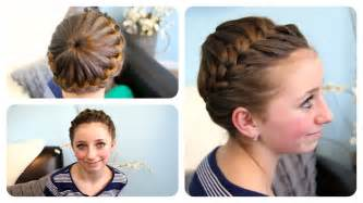 starburst crown braid updo hairstyles cute girls