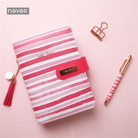 Diary A6 Spiral Whenzhang 21150 01 never stripe spiral notebook personal travelers journal organizer a6 planner diary book gift