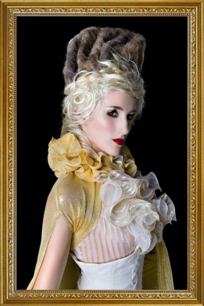 18th Century Hairstyles by 18th Century Hairstyle With Platinum Hair